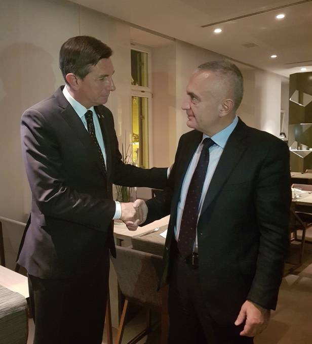President of the Republic of Slovenia Borut Pahor and President of the Republic of Albania Ilir Meta