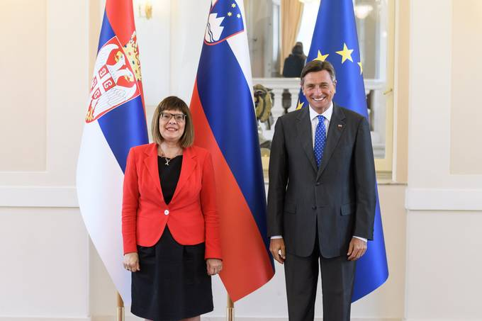 President Pahor receives Maja Gojković, Speaker of the National Assembly of the Republic of Serbia