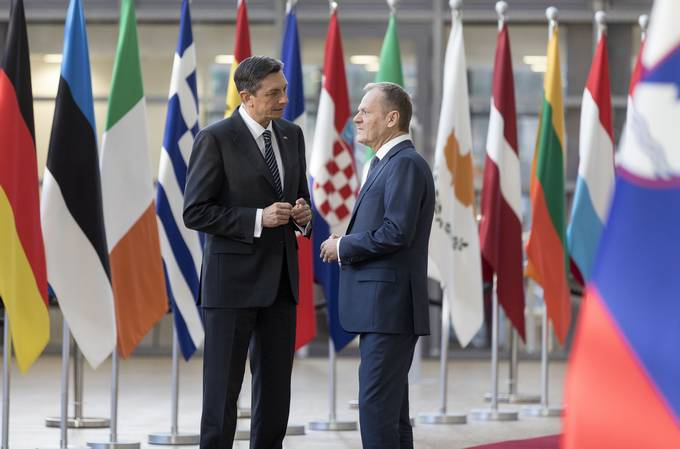 President Pahor concludes his visit to Brussels with meeting with the President of the European Council