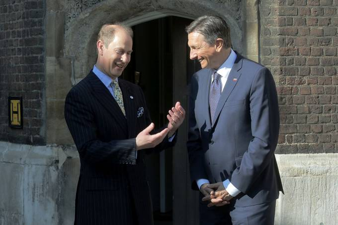 President of the Republic of Slovenia Borut Pahor starts official visit to the United Kingdom by meeting Prince Edward