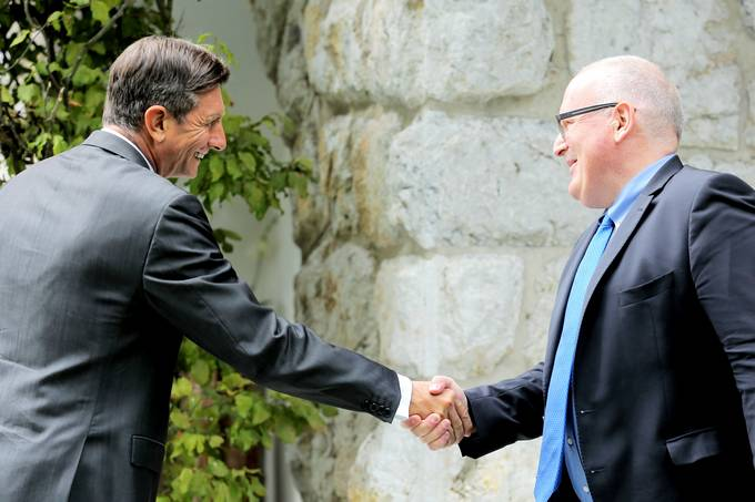 At the conclusion of the 12th Bled Strategic Forum the President of the Republic of Slovenia, Borut Pahor, met with the European Commissioner and First Vice-President of the European Commission Frans Timmermans