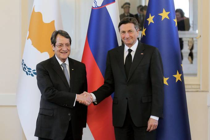 Presidents Pahor and Anastasiades seek stronger ties and more integrated Europe