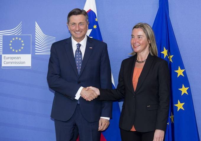 President Pahor in Brussels - with Mogherini