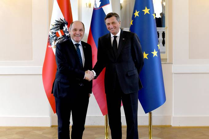 President Pahor received the President of the National Council of Austria Sobotka