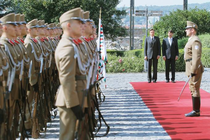 The President of the Republic of Slovenia, Borut Pahor, is paying an official visit to Hungary