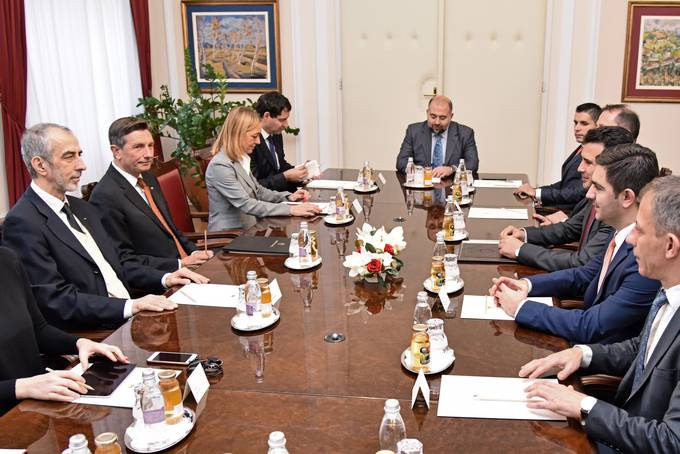 The President of the Republic of Slovenia receives the Prime Minister of the Republic of Macedonia