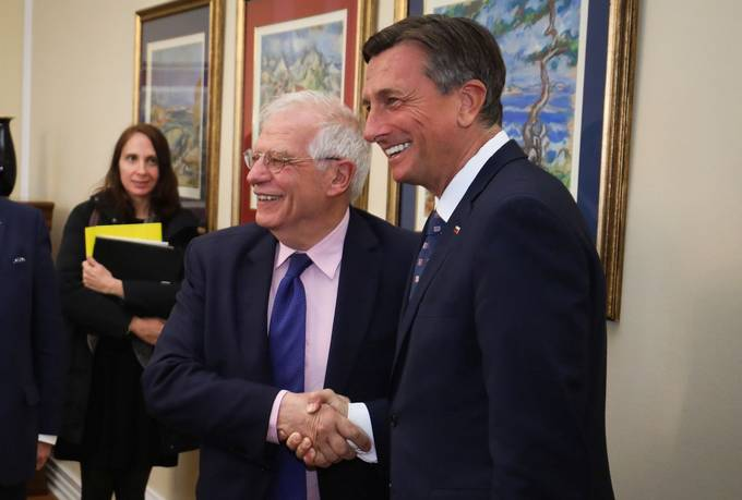 Slovenian President receives Spanish Minister of Foreign Affairs, the European Union and Cooperation Fontelles